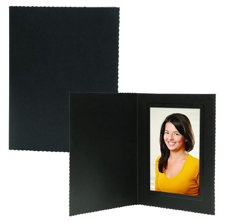 Black Vertical 5x7 Pro Photo Mount , pack of 100