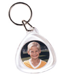 Item # 763 - 1 1/8 Tear Drop Key Tag